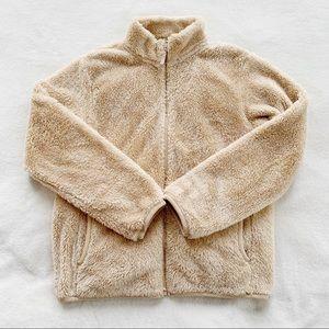 UNIQLO soft teddy Sherpa fleece zip up